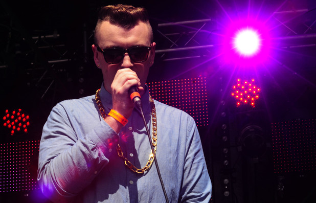 Sam Smith performing in concert