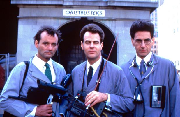 Bill Murray, Dan Aykroyd and Harold Ramis in Ghostbusters