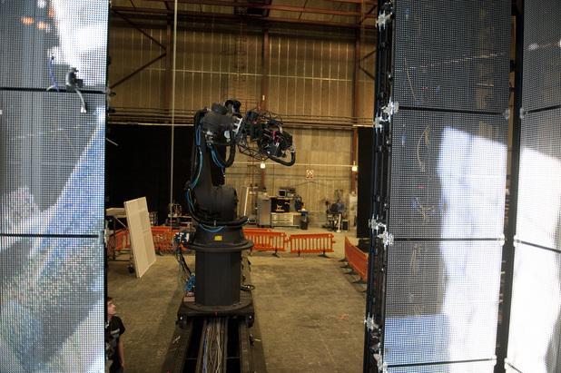 Gravity robot camera