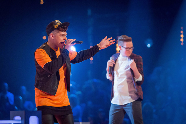 Callum Crowley and Tom Barnwell battle on The Voice