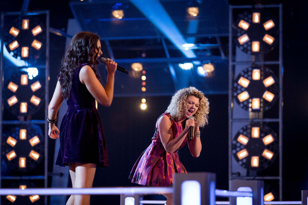 Kelsey-Beth Crossley and Emily Adams battle on The Voice