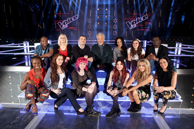 Sir Tom Jones with his team on The Voice