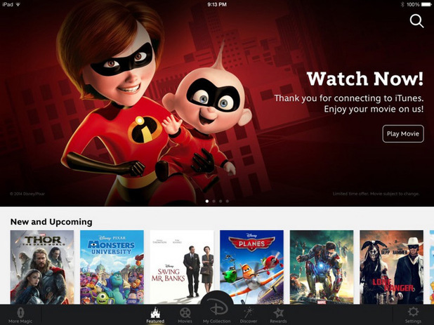 Disney Movies Anywhere app