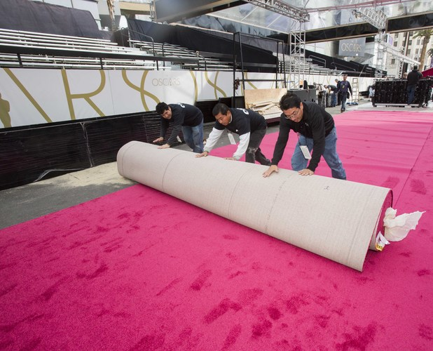 Oscars red carpet rollout