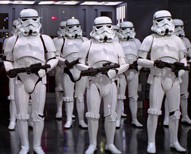 Stromtroopers in Star Wars