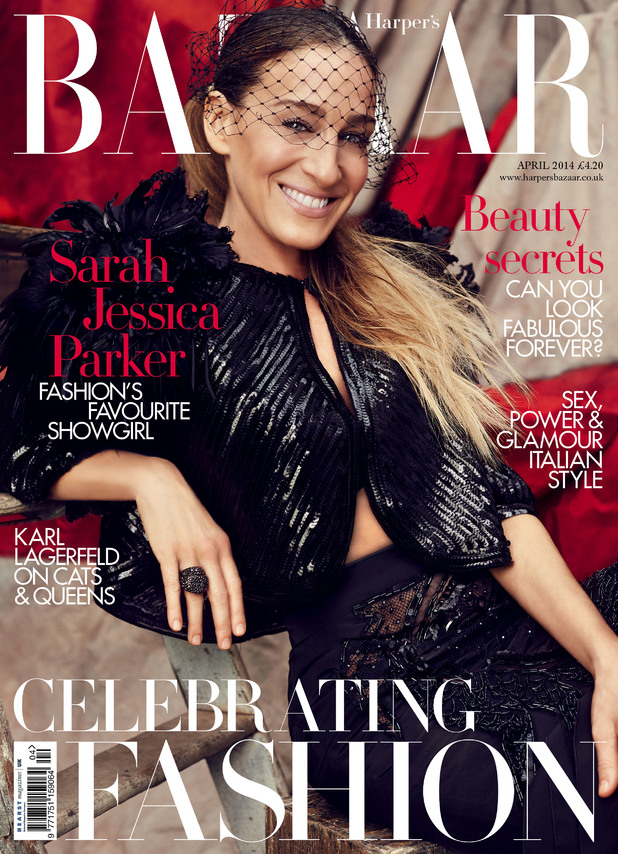 Sarah Jessica Parker in the April issue of Harper's Bazaar