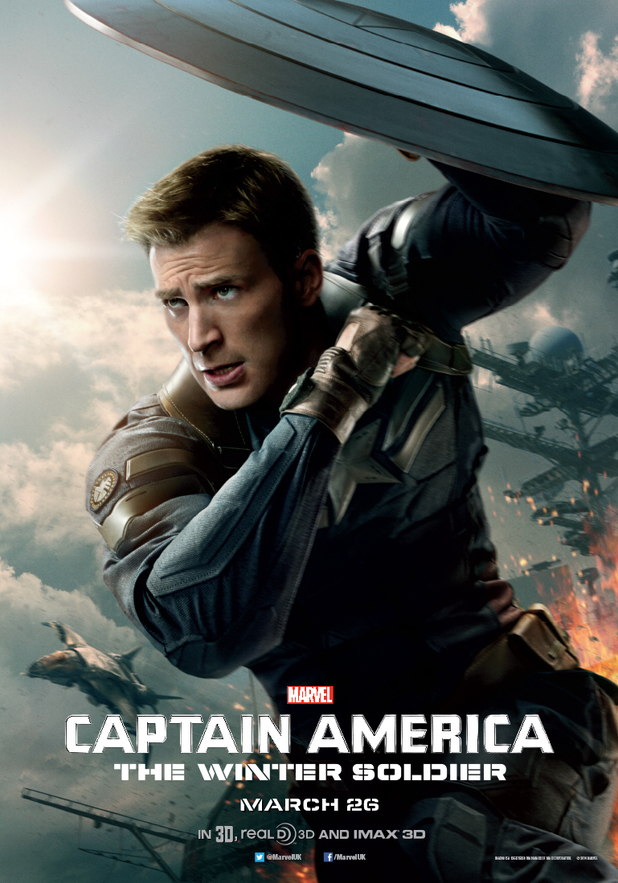 Chris Evans in 'Captain America: The Winter Soldier' poster
