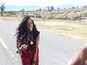 Angel Haze on set of 'Battle C