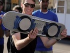 Moby and Doc Brown introduce 'world's first hoverboard' with Tony Hawk