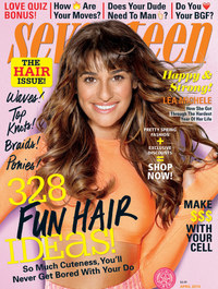 Lea Michele on the cover of April 2014's Seventeen