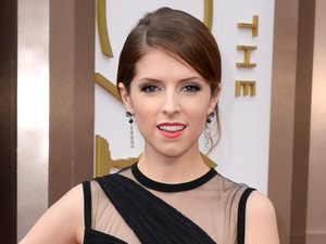 Anna Kendrick arrives at the 86th Academy Awards.