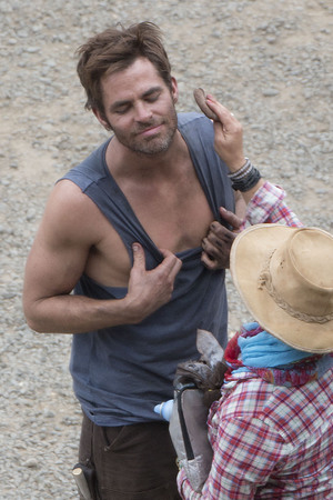 Chris Pine 'Z for Zachariah' on set filming, Christchurch, New Zealand - 25 Feb 2014