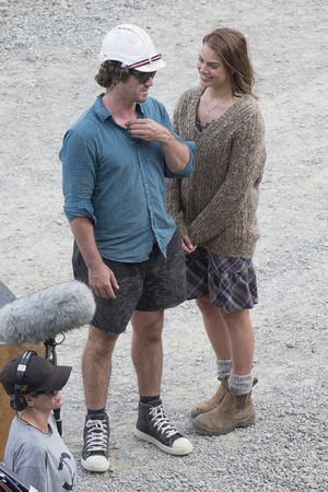 Margot Robbie and Henry Aitken 'Z for Zachariah' on set filming, Christchurch, New Zealand - 25 Feb 2014
