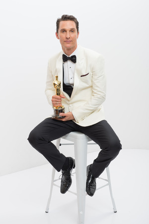 "A.M.P.A.S. After winning the category Performance by an actor in a Leading role for his role in ""Dallas Buyers Club"", actor Matthew McConaughey poses backstage with his Oscar®. 2 Mar 2014"