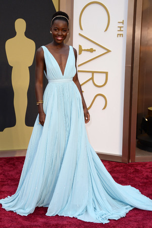 Lupita Nyong'o arrives at the 86th Academy Awards.