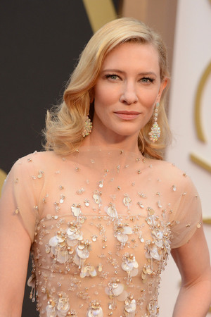 Cate Blachett arrives at the Oscars on Sunday, March 2, 2014, at the Dolby Theatre in Los Angeles.
