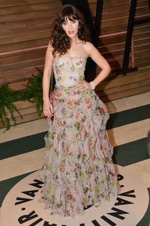 86th Annual Academy Awards Oscars, Vanity Fair Party, Los Angeles, America - 02 Mar 2014 Zooey Deschanel