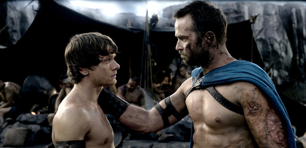 Jack O'Connell, Sullivan Stapleton in 300: Rise of an Empire.