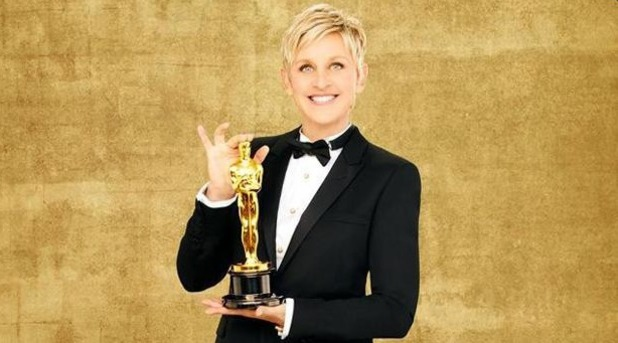 Ellen DeGeneres hosts the Oscars