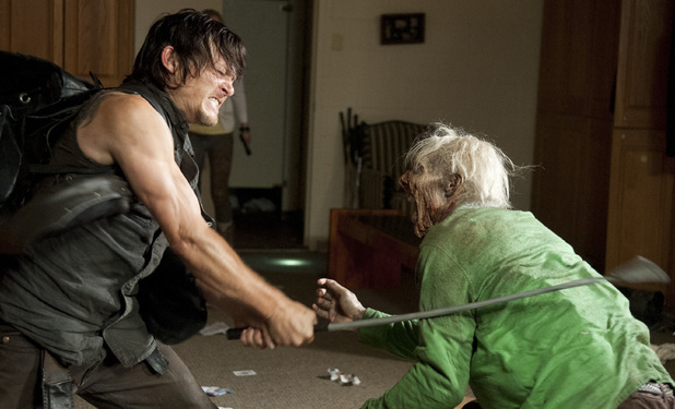 Daryl Dixon (Norman Reedus) in The Walking Dead S04E12: 'Still'