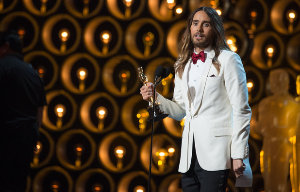 Jared Leto accept his award at the Oscars 2014