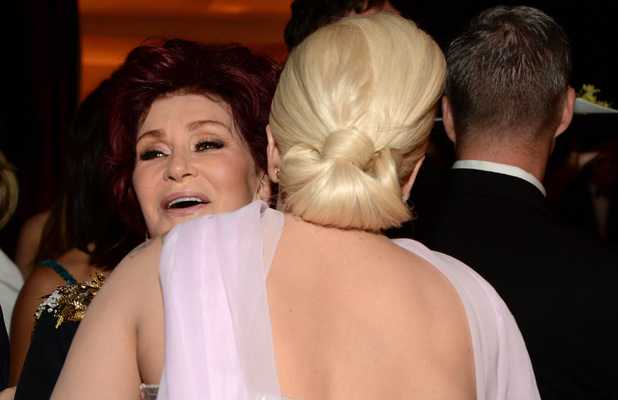 Sharon Osbourne & Lady Gaga at the 22nd Annual Elton John AIDS Foundation Academy Awards Viewing Party