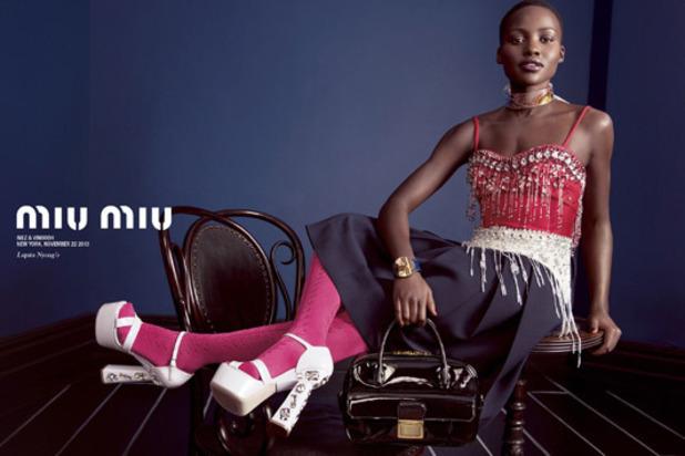 Lupita Nyong'o for Miu Miu SPring/Summer 2014 spring campaign