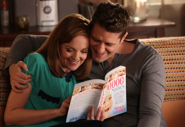 Matthew Morrison as Will & Jayma Mays as Emma in Glee S05E10: 'Trio'