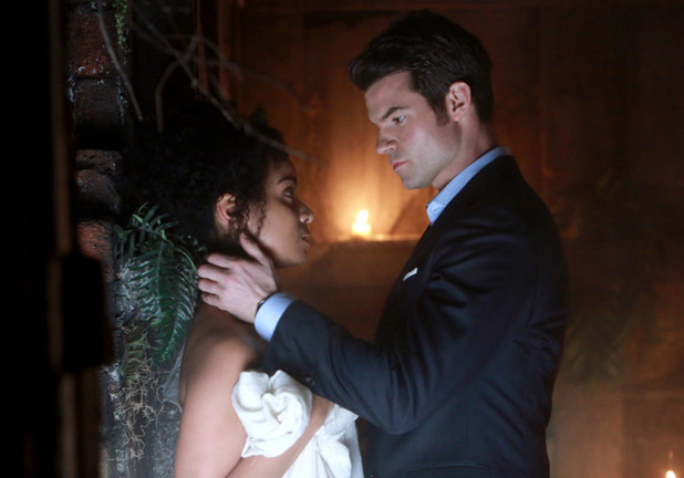 Raney Branch as Celeste and Daniel Gillies as Elijah in The Originals S01E15: 'Le Grand Guignol'