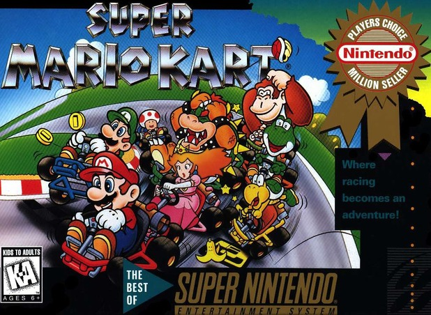 Super Mario Kart SNES box art