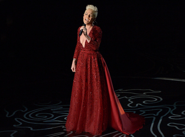 Pink performs during the Oscars