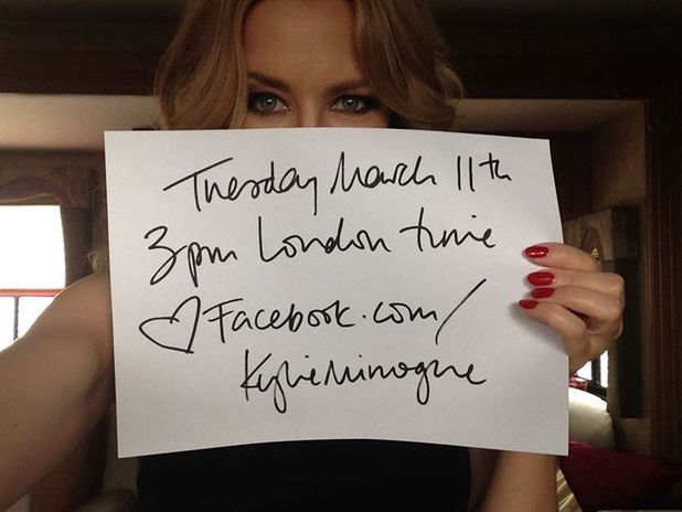 Kylie Minogue announces Facebook album stream