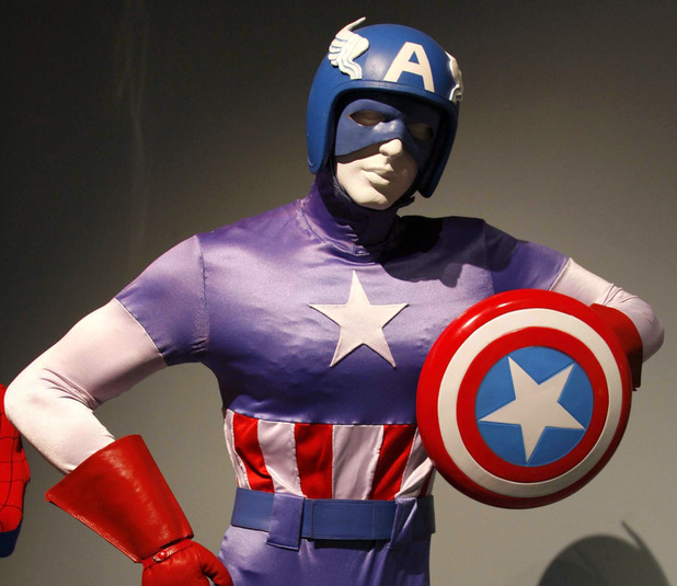 Costume from the Captain America TV movie (1979)