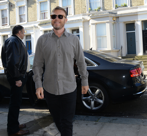Gary Barlow arrives to record the official World Cup single