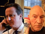 David Cameron tweet mocked by Patrick Stewart