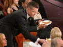 See everything from Brad Pitt's eager dive for pizza to Lupita Nyong'o's emotional speech.