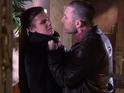 Trevor gets tough with Ste in Friday's first look episode of Hollyoaks.