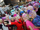 Hunger Games fans celebrate DVD release with Effie flashmob - pictures