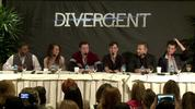 Mekhi Phifer, Maggie Q, Christian Madsen, Ben Lloyd-Hughes Jay Courtney and Miles Tellar discuss making Divergent at the film's US press conference.