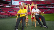 Alan Shearer and Robbie Savage take on the challenge of sitting on every seat at Wembley for Sport Relief. Digital Spy caught up with them and had a go.