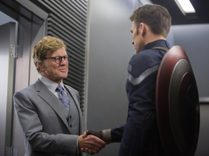 Robert Redford, Chris Evans in Captain America: The Winter Soldier