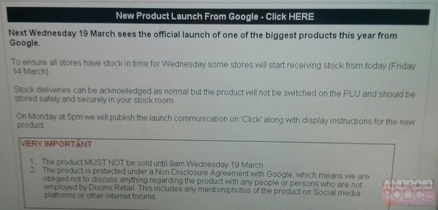 Purported product sheet for the Chromecast's UK launch