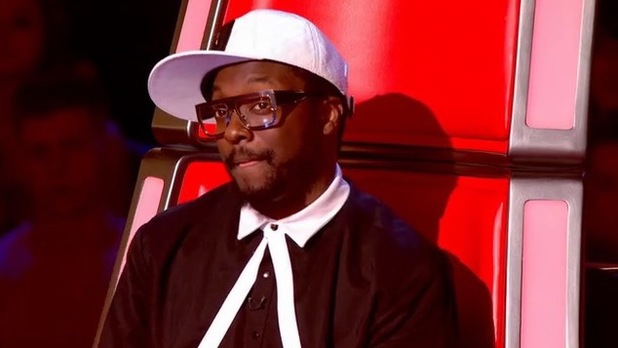 will.i.am watches Jade Mayjean Peters perform