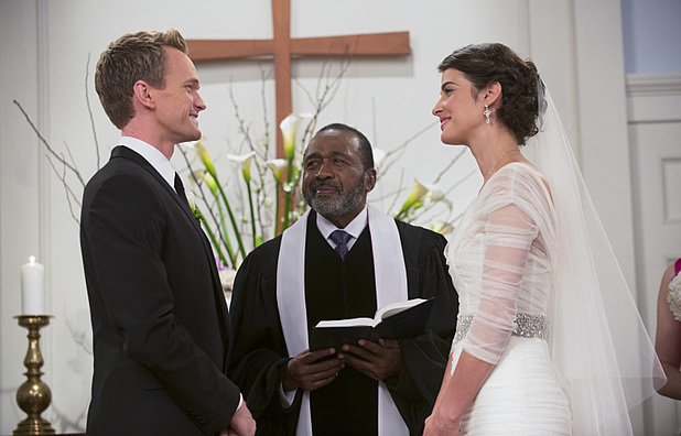 Neil Patrick Harris as Barney, Cobie Smulders as Robin in How I Met Your Mother: 'The End Of The Aisle'