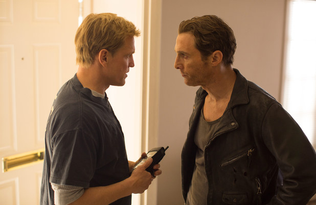Woody Harrelson as Martin Hart and Matthew McConaughey as Rust Cohle in True Detective
