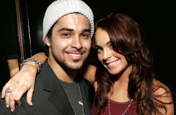 Wilmer Valderrama and Lindsay Lohan (Photo by Chris Weeks/WireImage)