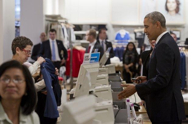 Barack Obama at Gap