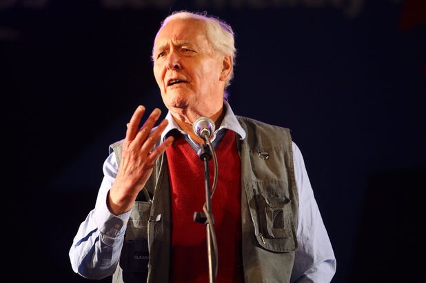 Tony Benn speaks at Glastonbury's Left Field in 2008