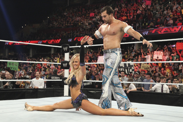 Summer Rae and Fandango on Raw