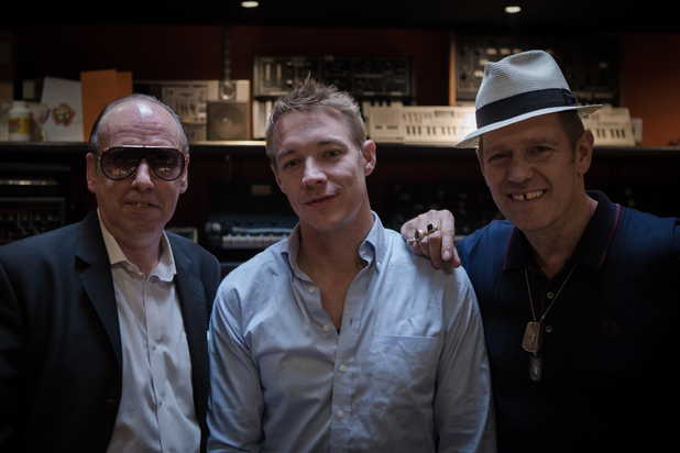 The Clash and Diplo in the studio for Converse.